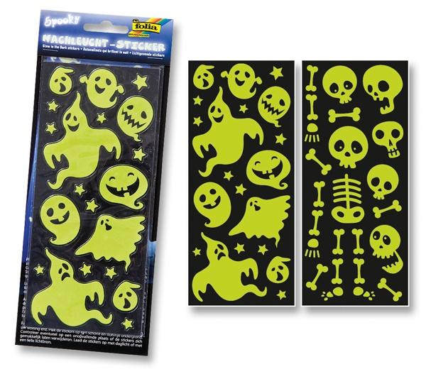 Folia Nachtleucht-Sticker Spooky