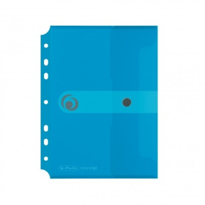 Herlitz Dokumententasche easy ergo to go A5 transparent blau