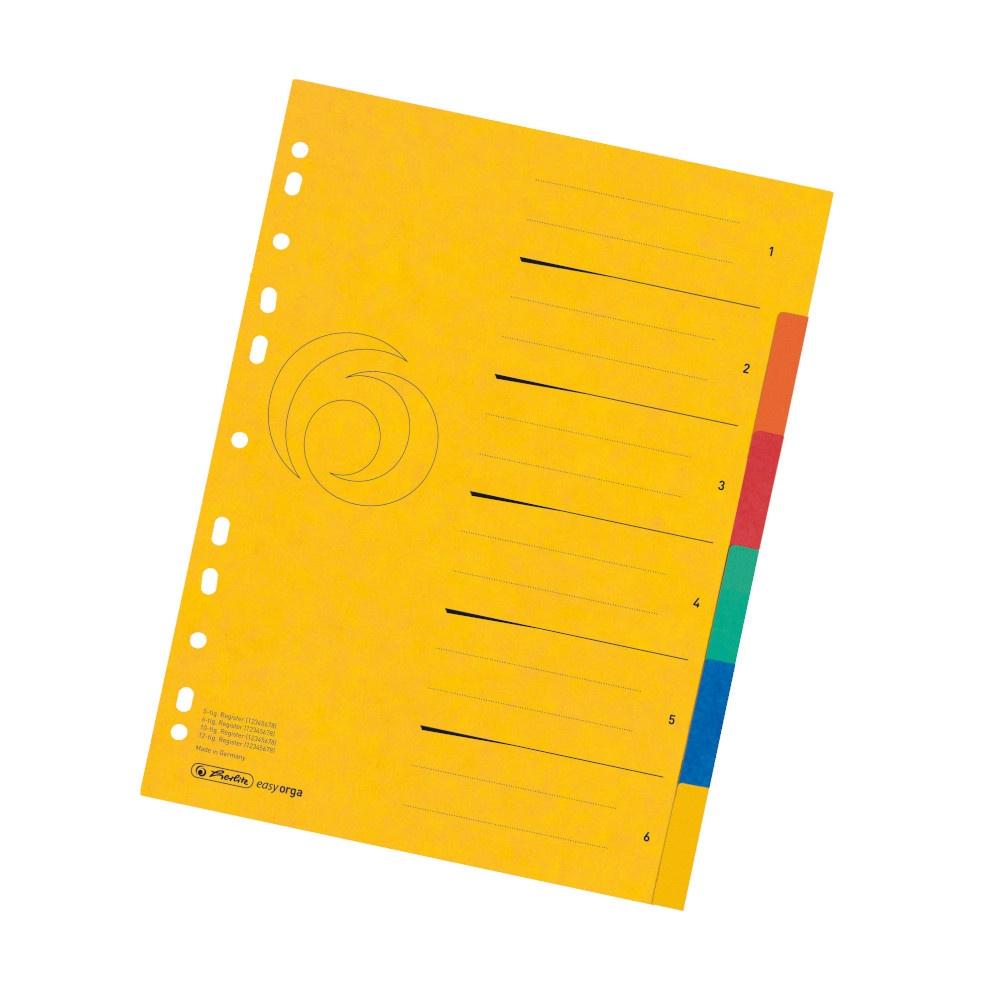 Register A4 6-tlg. Colorspan XXL