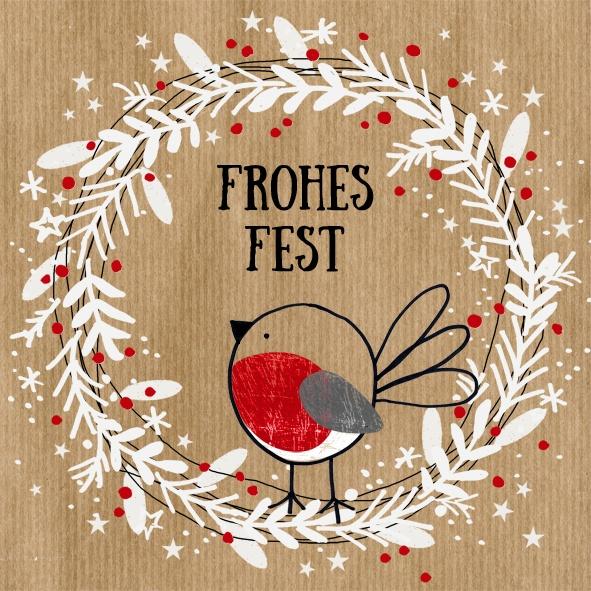 Servietten Weihnachten Frohes Fest