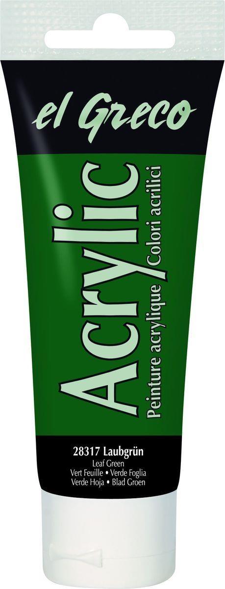 El greco Acrylic Acrylfarbe Laubgrün 75 ml