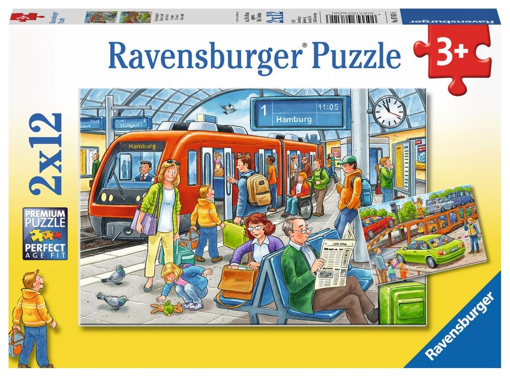 Ravensburger Puzzle Bitte einsteigen 2 x 12 Teile