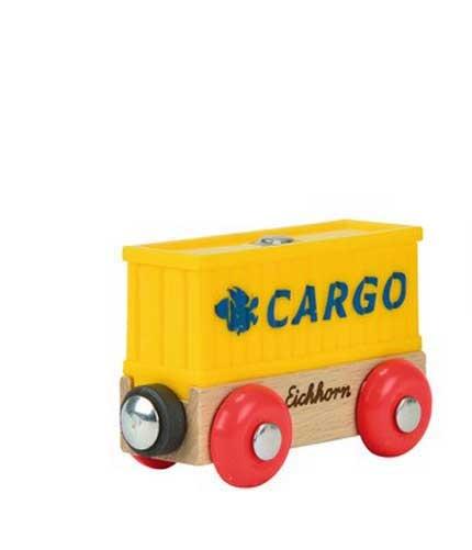 Eichhorn Holzeisenbahn Anhänger Container Wagon