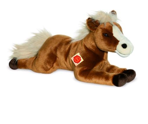Teddy Hermann Plüschtier Pferd braun liegend  51 cm