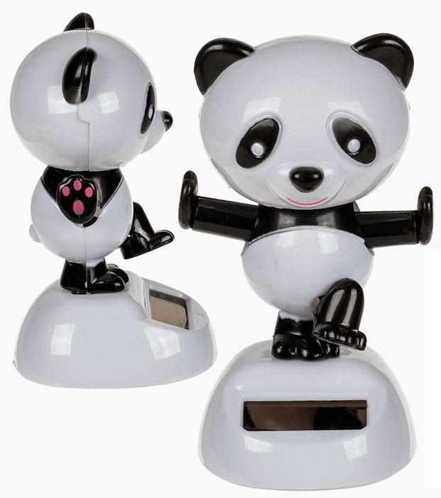 Panda bewegliche Figur mit Solarzelle