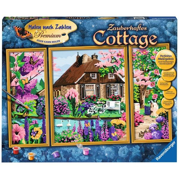 Ravensburger Malen nach Zahlen Zauberhaftes Cottage