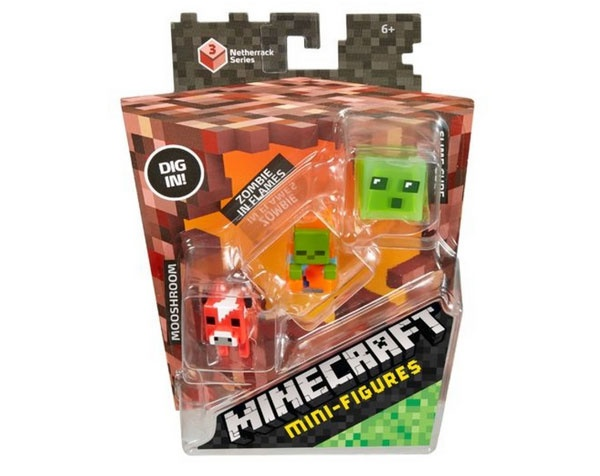Minecraft Sammelfigur Netherrac Schleimwürfel Zombie Pilzkuh