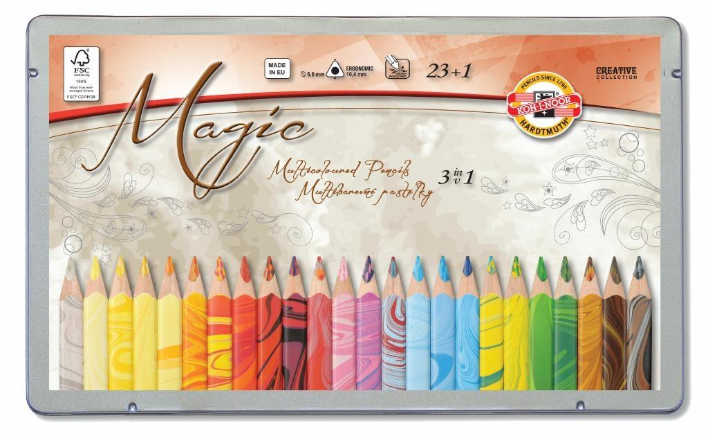 Farbstifte Magic Jumbo 24 Stück im Metalletui von Koh-I-Noor