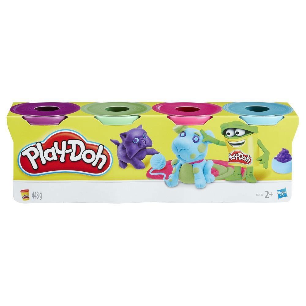 Play-Doh 4er Pack Knete Helle Farben