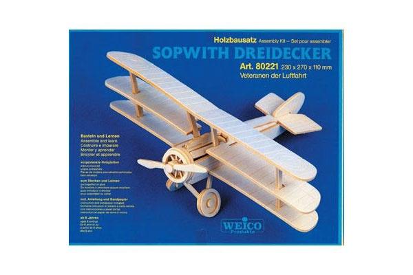 Holzbausatz Sopwith Dreidecker