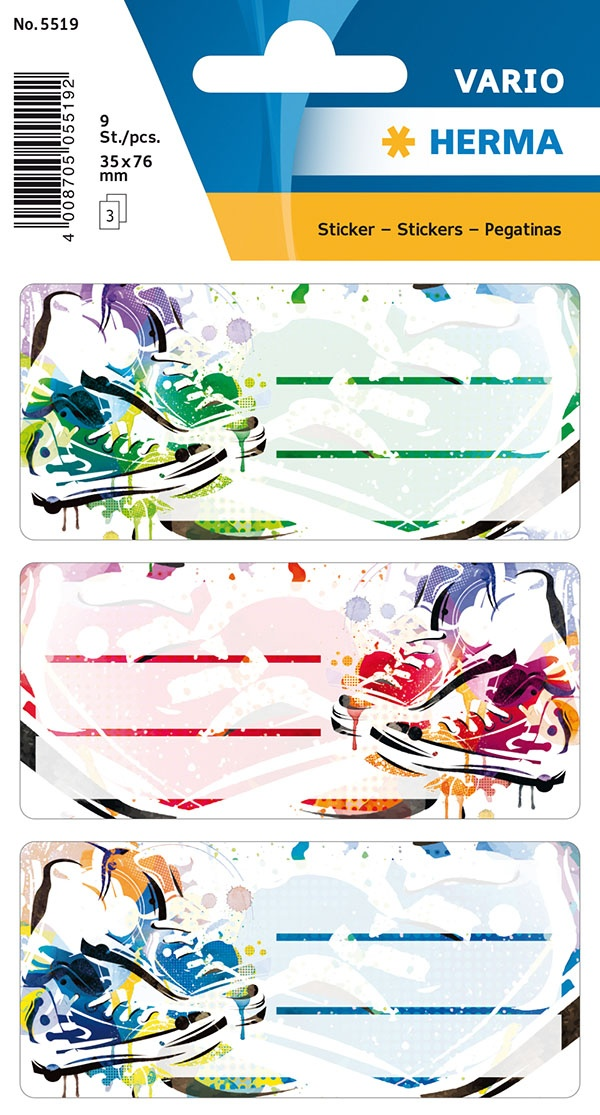 Herma Buch-Etiketten Schuhe