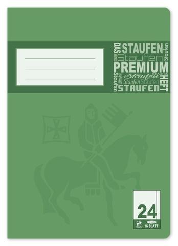 Schulheft Premium A4 16 Blatt Lineatur 24 blanko mit Rand