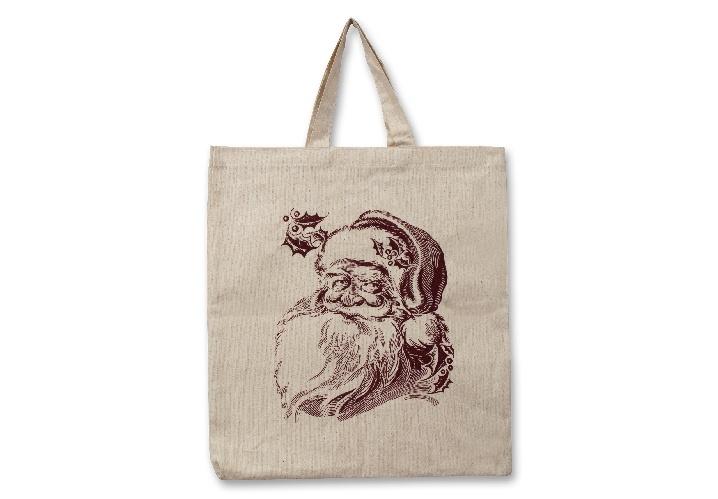 Tragetasche Weihnachtsmann aus Baumwolle