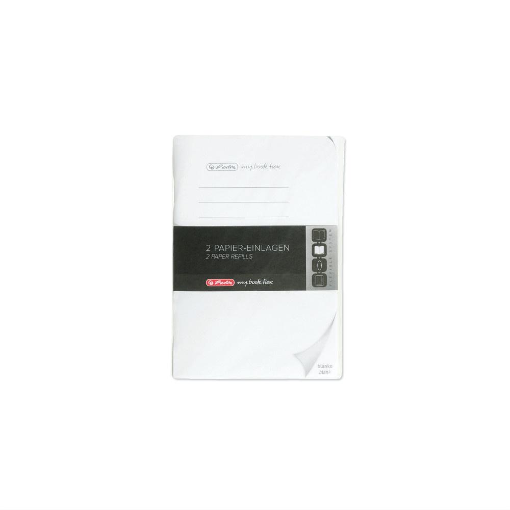 Herlitz Papiereinlagen A6 Refill fex blanko