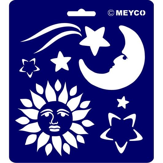 Schablone Sonne Mond Sterne