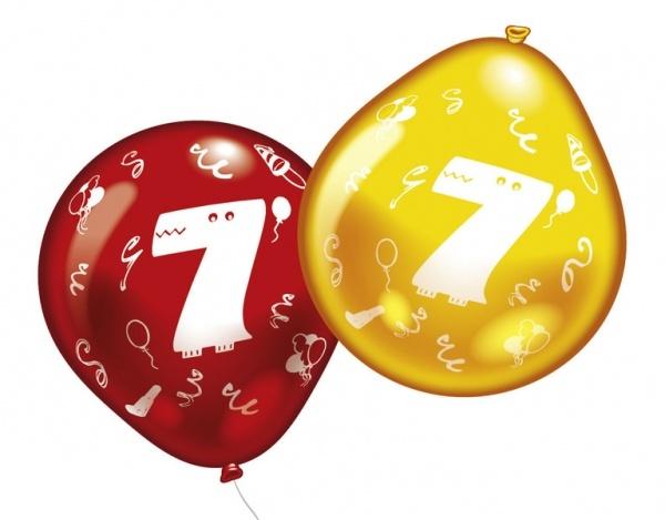 Luftballons mit Zahl 7 10 Stück