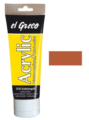 El greco Acrylic Acrylfarbe Siena gebrannt 75 ml
