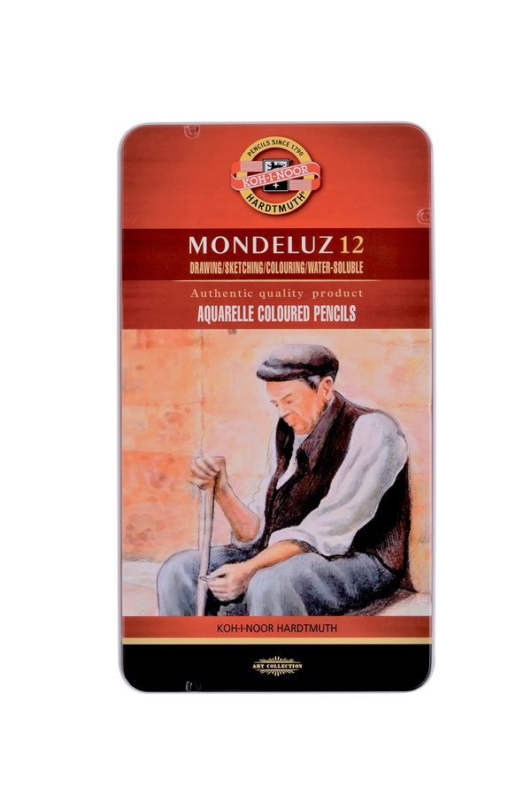 KOH-I-NOOR Mondeluz Künstler Aquarell-Farbstifte 12 Stück