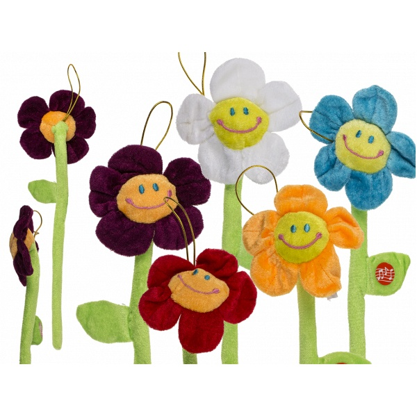 Plüschblume Happy Birthday