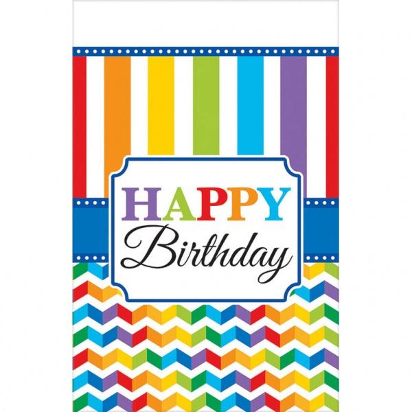 Party-Tischdecke Bright Birthday Farbenfroher Geburtstag