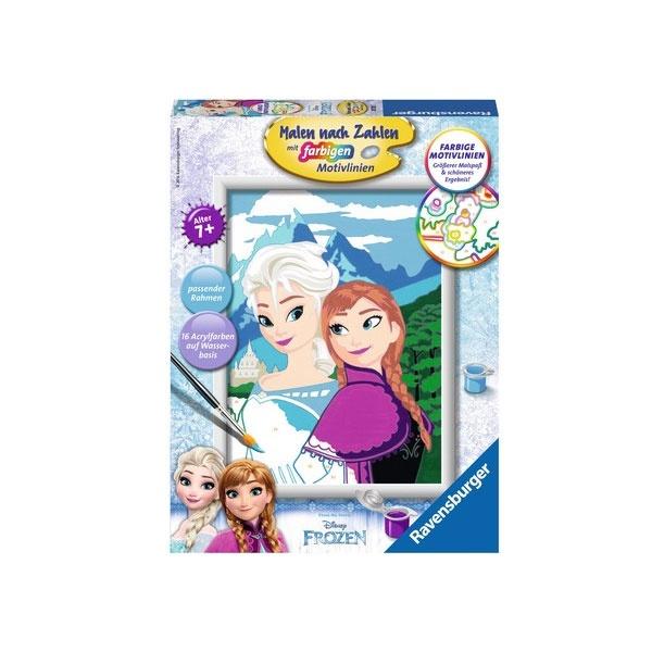 Malen nach Zahlen Frozen Elsa und Anna