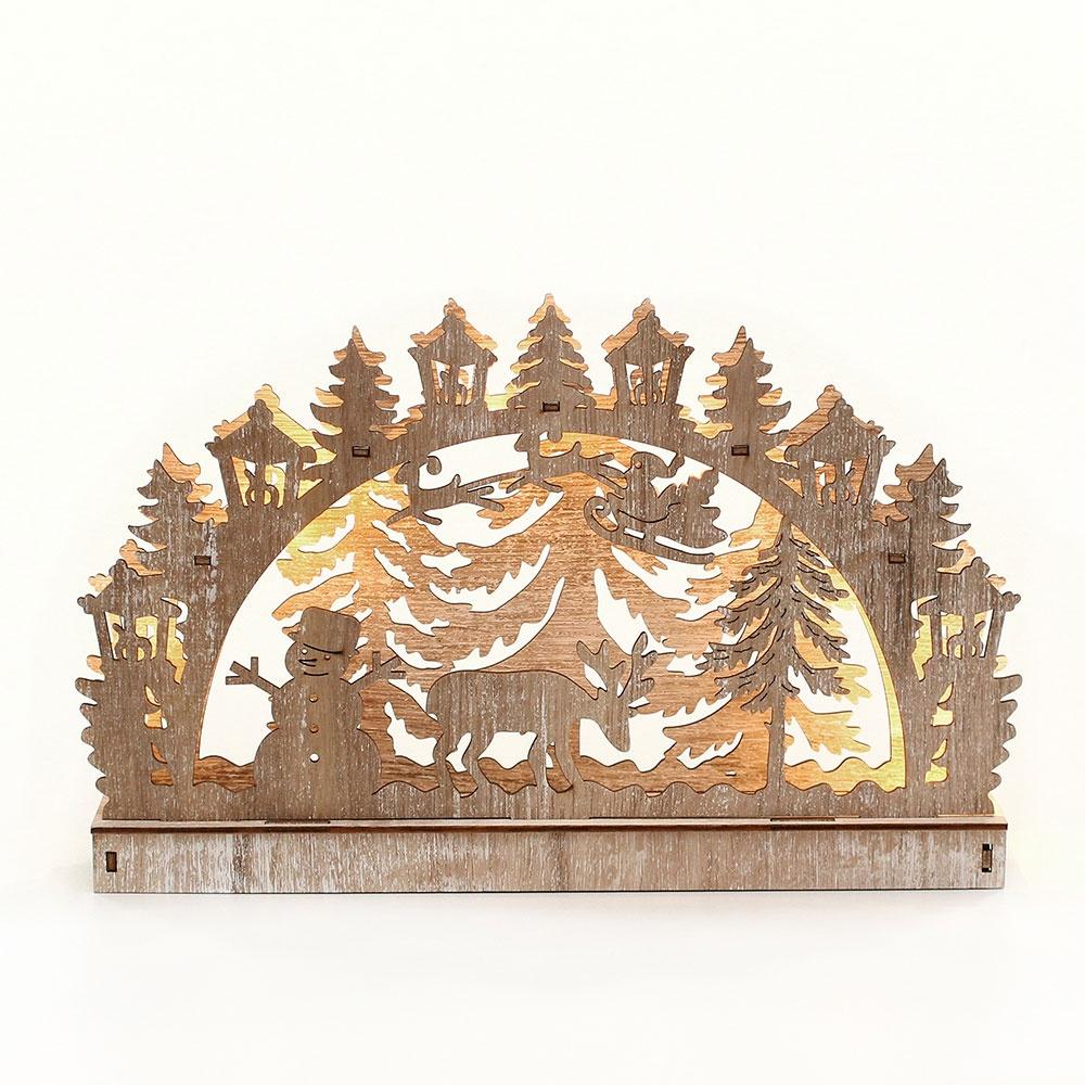 Schwibbogen Wald im Winter 28,5 cm