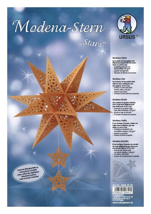 Bastelset Modena Stern Stars kupfer