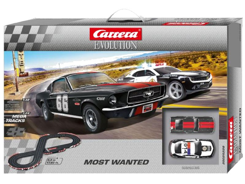 Carrera Evolution Autorennbahn Most Wanted 25228