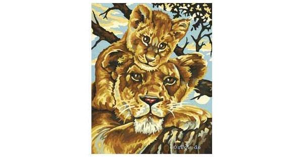 Schipper Malen nach Zahlen Kids Löwenmutter