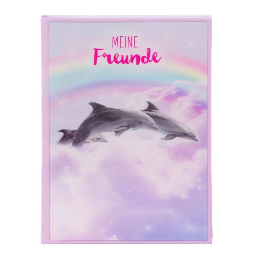 Goldbuch Freundebuch 3D Delfine