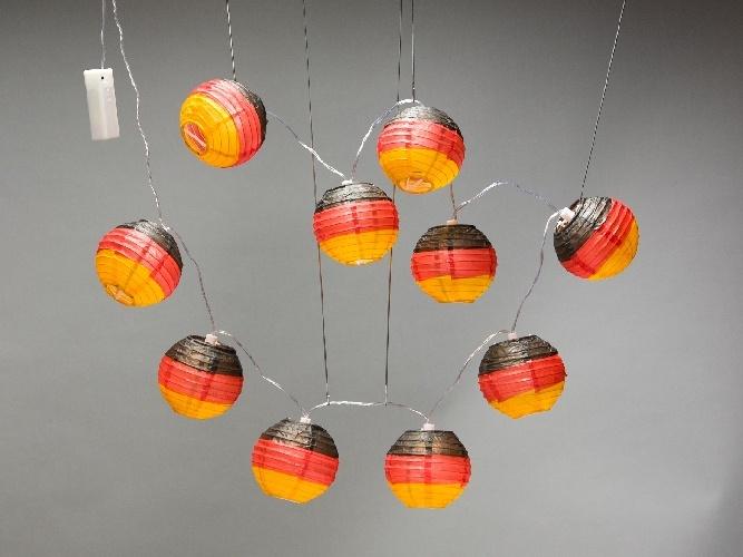 Lampion-LED-Kette Deutschland-Flagge