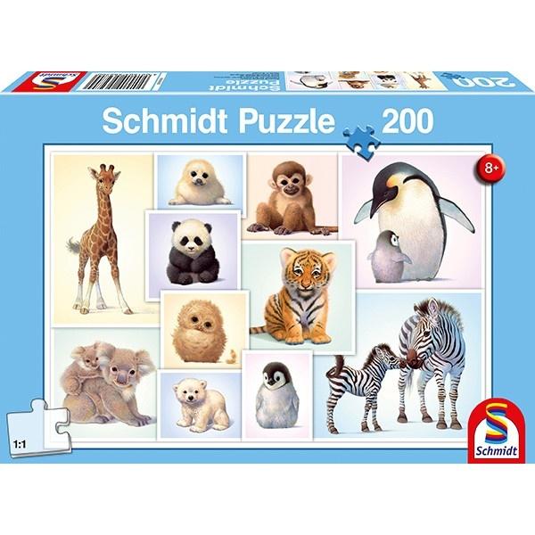Schmidt Spiele Puzzle Tierkinder der Wildnis 200 Teile