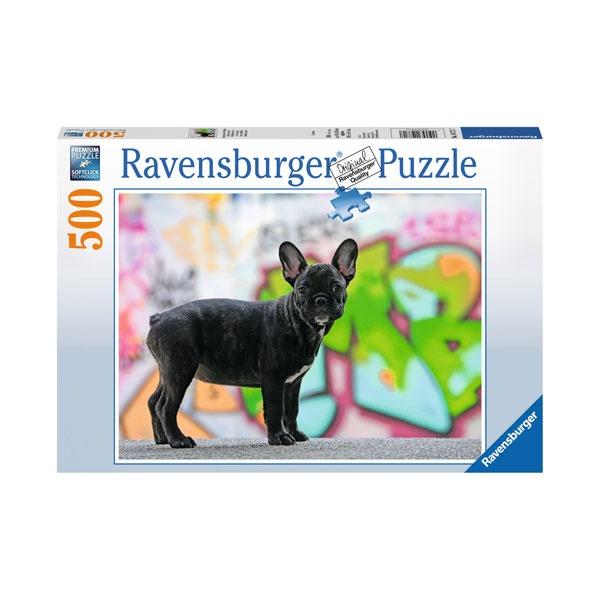 Ravensburger Puzzle Französische Bulldogge 500 Teile
