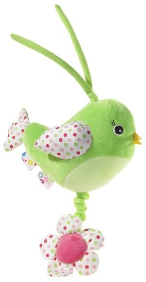 Heunec Vogel mit Musik grün 20 cm