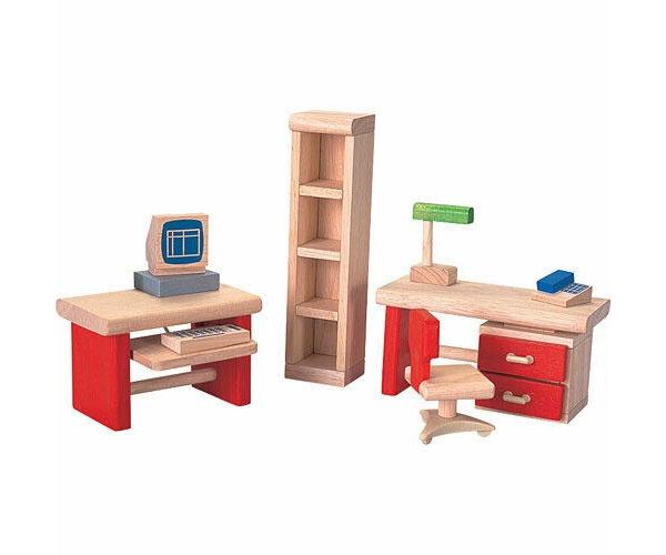 Puppenhaus-Möbel Büro von Plantoys