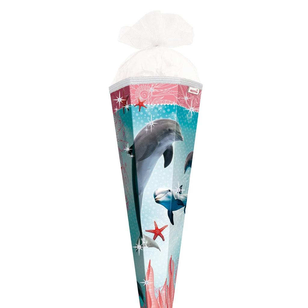 Roth Schultüte Delfin mit Seesternen mit Glitter 85 cm