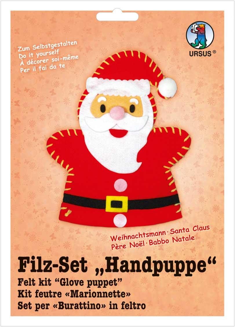 Filz-Bastel-Set Handpuppe Weihnachtsmann