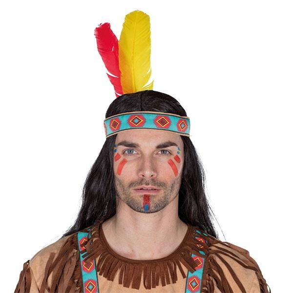Kostüm-Zubehör Indianer Stirnband 54
