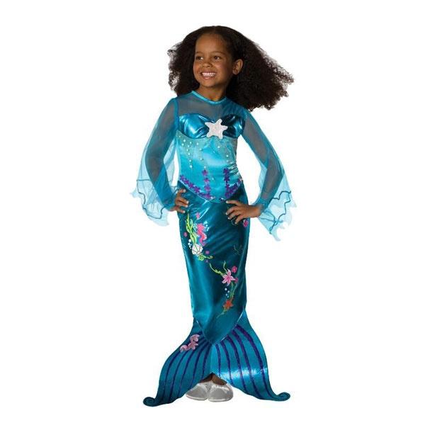 Kostüm Meerjungfrau Magical blue M 5-7 Jahre