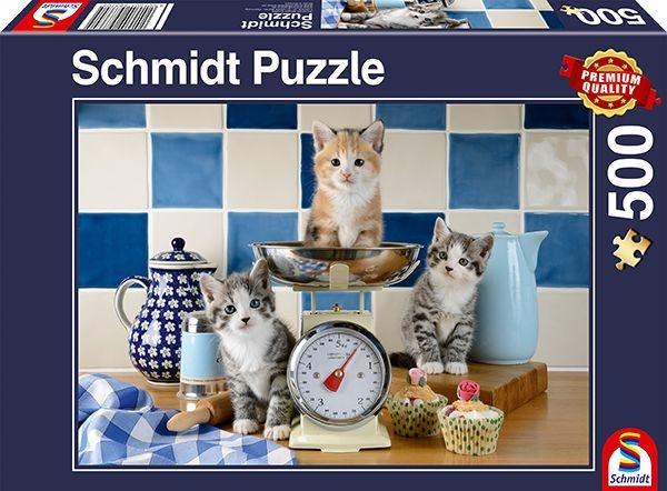 Schmidt Spiele Puzzle Katzen in der Küche 500 Teile