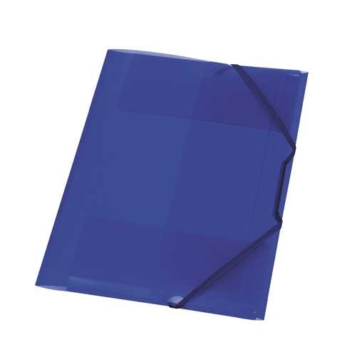 Gummizugmappe A4 transluzent royalblau von Herlitz