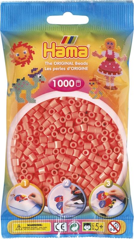 Hama Bügelperlen 1000 Stück pastell rot