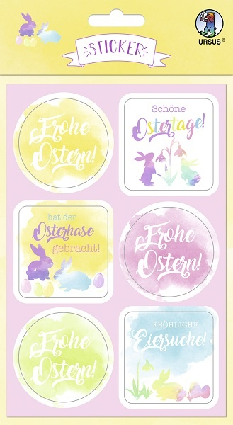 Sticker Bunte Ostern 24 Stück selbstklebend