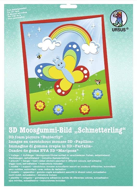 Bastelmappe Moosgummi-Bild 3D Schmetterling