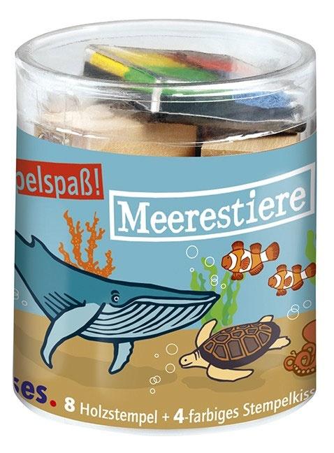 Stempelspaß-Set Meerestiere