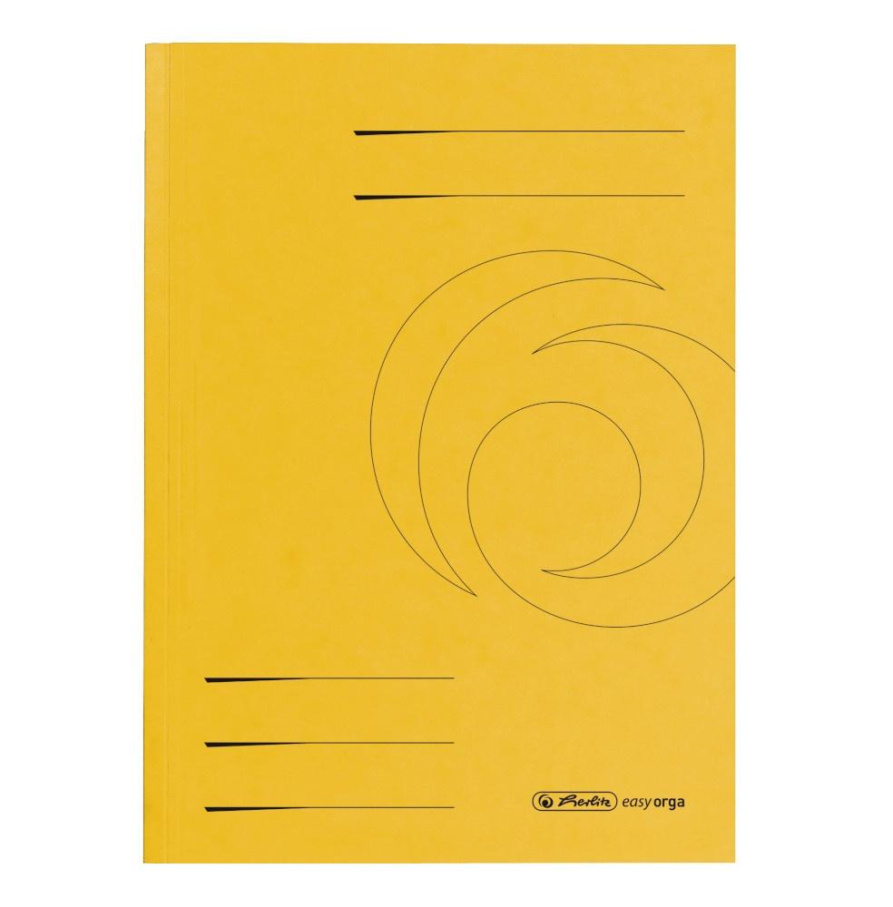 Aktendeckel A4 gelb, Karton
