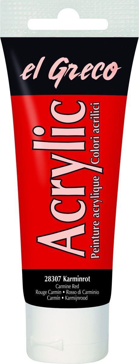 El greco Acrylic Acrylfarbe Karminrot 75 ml