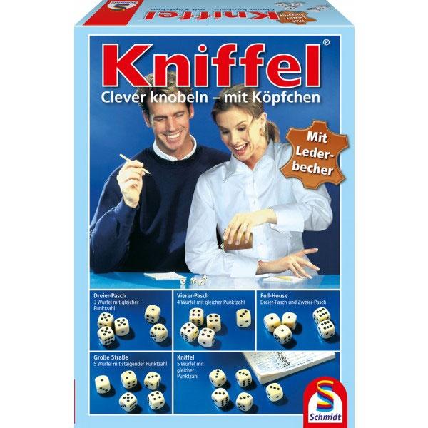 Kniffel mit Lederwürfelbecher von Schmidt Spiele