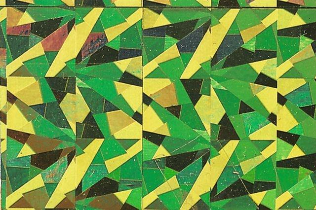 Folia Holographische Folie Magic grün selbstklebend