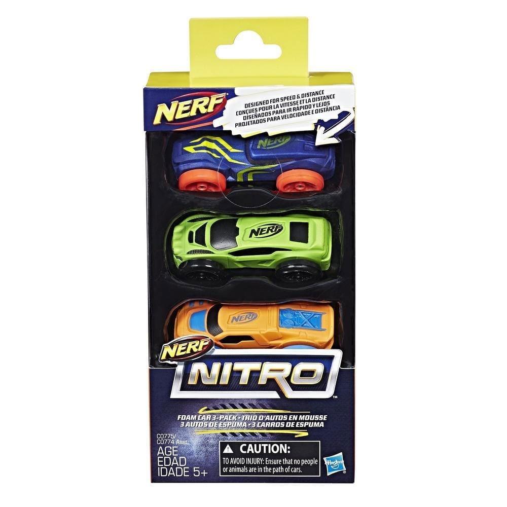 Nerf Nitro Soft Racer 3er Pack blau/grün/orange